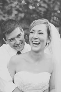 Another bride showing off her white smile from Saunders DDS