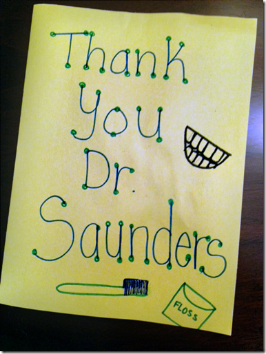 Thank You Dr. Saunders - Asheville Dentists